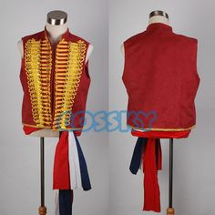 Musical Les Miserables Enjolras Vest Sash Costume Set  Tailor-made in your own size, not Cheap Mass Production  Fabric:False Suede  Including:Vest + Sash