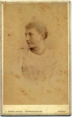 Unknown girl ca.1880. Posen