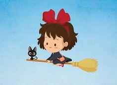 """Little Witch"" Jerrod Maruyama Mini Print"
