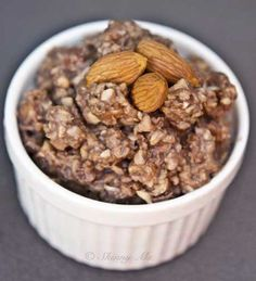 Almond Blast Oatmeal - almonds are said to be the healthiest of all nuts, so start your morning with this recipe!