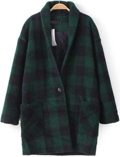 Shop Green Long Sleeve Plaid Woolen Coat online. Sheinside offers Green Long Sleeve Plaid Woolen Coat & more to fit your fashionable needs. Free Shipping Worldwide!
