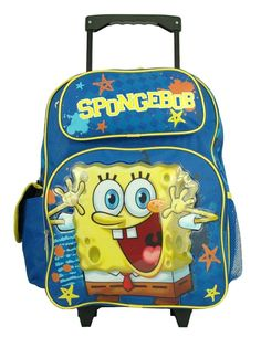 Spongebob Squarepants Large Rolling Backpack * Continue to the product at the image link. (This is an Amazon Affiliate link and I receive a commission for the sales)