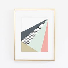 8.5 x 11 Geometric Illustration by ahandcraftedhome on Etsy