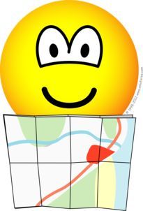 Map reading emoticon