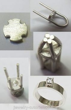 Quick Collet Making - Free Tutorial Some instances and designs require a quick and easy wire prong collet for setting round gemstones in. This free tutorial on making this type of wire prong collet is helpful when you under time constraints. Jewelry Tools, Stone Jewelry, Metal Jewelry, Custom Jewelry, Jewelry Art, Silver Jewelry, Handmade Jewelry, Jewelry Design, Jewellery