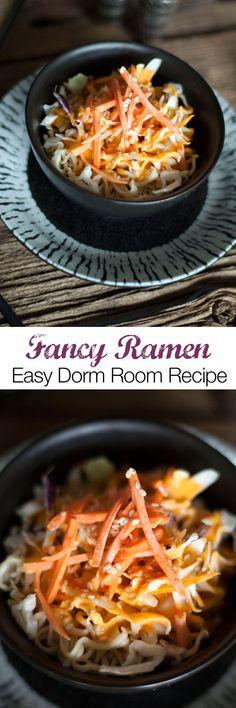 Vegan Dorm Room Ramen Hack Easy Vegan Dorm Room Ramen Recipe Skip the taste pack and turn this super-affordable package … College Food Hacks, College Meals, Ramen Recipes, Snack Recipes, Snacks, Veg Recipes, Ramen Hacks, Edgy Veg, Dorm Food
