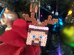 Minecraft Ornament by beadelia on Etsy, $3.00