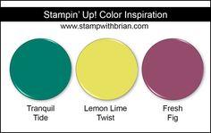 Stampin' Up! Color Inspiration: Tranquil Tide, Lemon Lime Twist, Fresh Fig