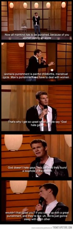 so not true we have to be around them every waking moment to make them feel better!!! lmao love daniel tosh!!