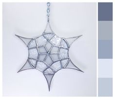 "Stained Glass Suncatcher -""Divine Snowflake (Textured)"" by smashglassworks on Etsy"