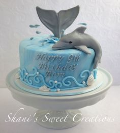 Meet Seamore He Was Made For A Little Girl Who Loves Dolphins Happy Birthday To Rori Meet Seamore. He was made for a little girl who loves. Dolphin Birthday Cakes, Dolphin Birthday Parties, Dolphin Cakes, Dolphin Party, Ocean Cakes, Beach Cakes, Fancy Cakes, Cute Cakes, Animal Cakes