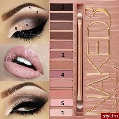 Naked 3 Tutorial  Didn't think I would love it. Absolutely do! A must have palette by Urban Decay.