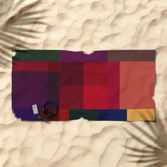 Jewel tones abstract geometric I Beach Towel by uteb Beach Bath, Oversized Beach Towels, Wear Sunscreen, Jewel Tones, Good Mood, Traditional Design, Hand Towels, Jewels, Abstract