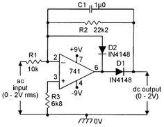Precision half-wave AC/DC converter.
