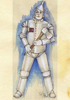Uomo di latta - bozzetto costume di scena