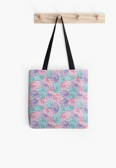 Soft polyester canvas shopping bag with edge-to-edge print on both sides. Fully lined for extra strength. Three sizes to choose from. Sai Mai (Thai word for cotton candy)Design inspired by traditional Thai art. Dresses With Leggings, Medium Bags, Poplin Fabric, Small Bags, Cotton Tote Bags, Flower Designs, Decorative Throw Pillows, Shoulder Bag, Purple