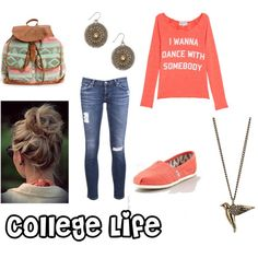"""College Life"" by betsy-shull on Polyvore"