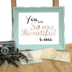 Hello there, and a very warm and poetic welcome to you!  You are peeking at the YOU ARE SO VERY BEAUTIFUL TO ME original printable wall art!  This elegant landscape digital printable features a subtle black and pink watercolor font, and the simple text You Are So Very Beautiful To Me. Perfect for framing, this inspirational printable is bound to add a touch of inspiration and style to any indoor space! Perfect as nursery wall decor for a little girl, or even in an older childs bedroom…