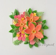 Quilling Flowers Tutorial, Paper Quilling Flowers, Quilling Work, Paper Quilling Patterns, Quilling Paper Craft, Flower Tutorial, Quilling Ideas, Felt Crafts, Diy And Crafts