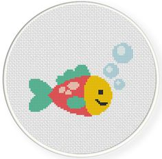 Charts Club Members Only: Cute Fish Cross Stitch Pattern
