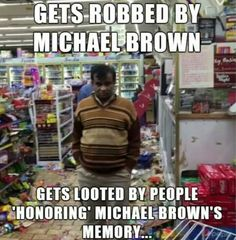 "This is shame!!! I I wonder if he will protest ignorant looters calling it ""racism"""