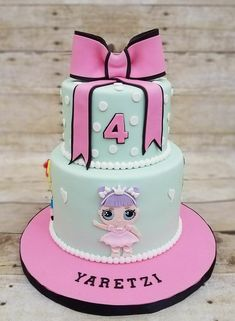 Birthday Party LOL Dolls for a girl's party - Celebrat : Home of Celebration, Events to Celebrate, Wishes, Gifts ideas and more ! Funny Birthday Cakes, 6th Birthday Parties, 7th Birthday, Bolo Fack, Lol Doll Cake, Surprise Cake, Surprise Birthday, Lol Dolls, Girl Cakes