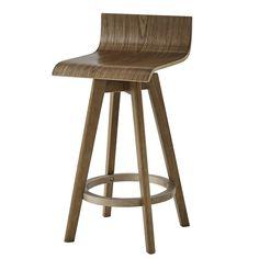 24 Tisha Mid - Century Modern Swivel Wood Counter Stool (Set of - Walnut (Brown) - Inspire Q