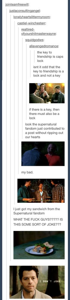 Look the Supernatural fandom just contributed