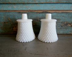 A personal favorite from my Etsy shop https://www.etsy.com/listing/224406904/white-hobnail-milk-glass-votive-candle