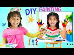 Anantya & Anaya Pretend Play DIY Painting | ToyStars - YouTube Diy Crafts For Gifts, Love Status, Pretend Play, Our Kids, Dark Colors, Diy Painting, Barbie, Pj, Youtube