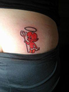 Deano Hoeta, New Plymouth, New Zealand, Hot Stuff tattoo , Little devil