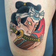 Small size samurai tattoo #samurai #tattoosnob #painting  #thebesttattooartists #japanesetattoo #animal #tattooistartmag #japanesecollective