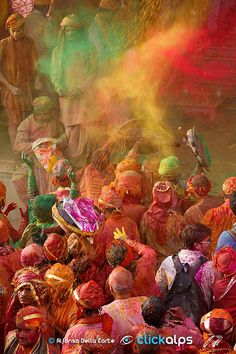 Happy Holi by Alfonso Della Corte on Holi Festival Of Colours, India People, Happy Holi, World Of Color, Incredible India, The Incredibles, Culture, Painting, Faces