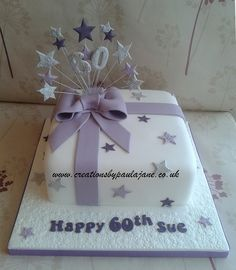 60th Lilac Parcel Cake by Creations By Paula Jane, via Flickr