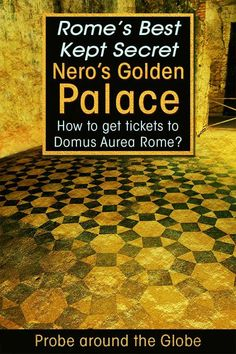 Read about the unique underground experience in Rome with the off the beaten path tour of Nero's Golden Palace and how to get Domus Aurea tickets. #italy #rome #history