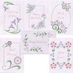 Value Pack No. 11: Flower Borders pattern at Stitching Cards.