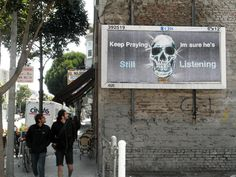 Hugh Leeman vandalizes corporate ads for art's sake