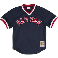 Ted Williams Boston Red Sox Mitchell & Ness Authentic 1990 BP Jersey  http://allstarsportsfan.com/product/ted-williams-boston-red-sox-mitchell-ness-authentic-1990-bp-jersey/?attribute_pa_color=navy&attribute_pa_size=x-large  Adult Mesh Batting Practice Jersey, Mens Sizing V-neck, Rib-Knit Cuffs and Collar Team Logo on Front, Player Name and Number on Back