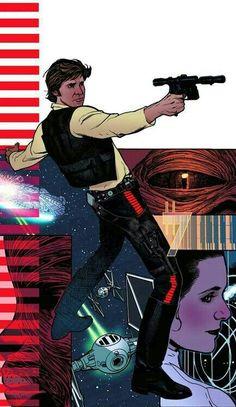 Star Wars: Rebel Heist No. cover art by Adam Hughes (Dark Horse) Star Trek, Star Wars Han Solo, Star Wars Rebels, Star Wars Art, Adam Hughes, Justice League, Star Wars Personajes, Han And Leia, Star Wars Comics