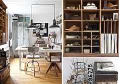 Like the use of vintage objects made weathered. and used for storage    http://5840-sfgirlbybay.voxcdn.com/wp-content/uploads/2012/07/7d.jpg