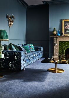 Why You Should Consider Carpet For Your Homes – The Interior Editor Hague Blue Country Living Burrnham Carpet Living room carpet with quality underlay helps alleviate furniture indentations from heavy furniture. Blue Carpet Bedroom, Living Room Carpet, Living Room Decor Eclectic, Living Room Designs, Alternative Flooring, Hague Blue, Blue Rooms, Interior Inspiration, Country Living