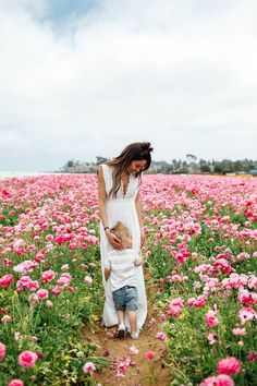 Flower fields with my little babe