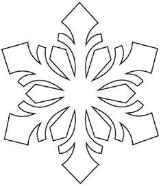 Fensterbilder zu Weihnachten selber machen - Techniken & Vorlagen couper pour et comme Snowflake Craft, Snowflake Designs, Snowflake Pattern, Snowflakes, Snowflake Stencil, Frozen Snowflake, Felt Christmas, Christmas Time, Christmas Ornaments