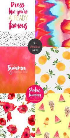 Craft A Doodle Doo: THE FREEBIE JUBILEE // 6 NEW SUMMER PRINTS (SHADOWS OF SUMMER COLLECTION)