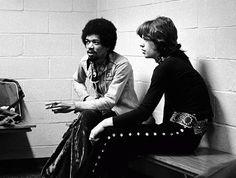 Mick Jagger & Jimi Hendrix