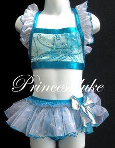 Princess Elsa Frozen Inspired Princessduke Birthday Bikini