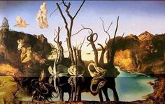 Swans Reflecting Elephants-Salvatore Dali.