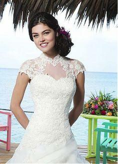 Stunning Organza A-line Sweetheart Neckline Natural Waistline Wedding Dress
