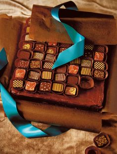 Box of chocolates recipe from The Birthday Cake Book by Fiona Cairns | Cooked