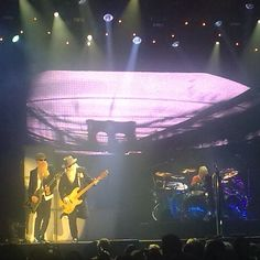 """ZZ Top playing their concert at """"Go Planet"""" in Enschede, Netherlands"""